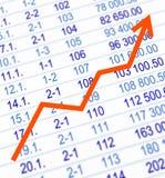 Gráfico crescente Foto de Stock Royalty Free