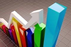 Gráfico crescente Fotografia de Stock