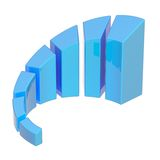 Gráfico crescente da carta de barra isolado Imagens de Stock Royalty Free