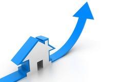 Gráfico crescente da venda home Foto de Stock