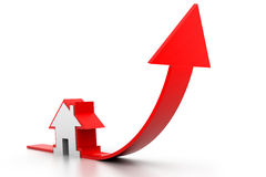 Gráfico crescente da venda home Imagem de Stock