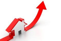 Gráfico crescente da venda home Imagens de Stock
