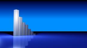 Gráfico crescente do negócio Fotografia de Stock Royalty Free