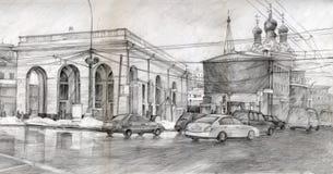 Gráfico cuadrado de Moscú ilustración del vector