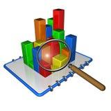 gráfico 3D Imagens de Stock