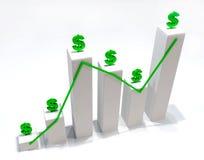Gráfico 3D do dinheiro Foto de Stock
