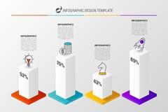 gráfico 3D para infographic Molde moderno do projeto do vetor Vetor Fotos de Stock