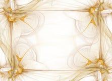 Gráfico da beira/negócio - fumo dourado ilustração royalty free