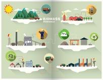 Gráfico da biomassa Fotografia de Stock Royalty Free