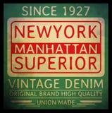 Gráfico da camisa da tipografia T de New York vetores Fotos de Stock
