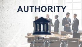 Gráfico da coluna da lei da autoridade governamental imagem de stock