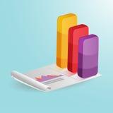 Gráfico da coluna do mercado de valores de ação colorido Foto de Stock Royalty Free
