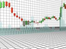 Gráfico da Cripto-moeda Imagens de Stock Royalty Free
