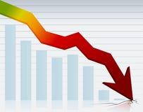 Gráfico da crise Imagem de Stock Royalty Free