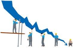 Gráfico da depressão do negócio Ilustração Stock
