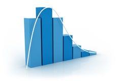 Gráfico da distribuição ilustração do vetor