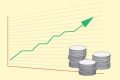 Gráfico da economia ilustração royalty free