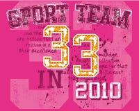 Gráfico da equipe de esporte Fotos de Stock