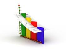 Gráfico da estatística Foto de Stock