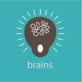 Gráfico da ilustração do projeto das ideias dos cérebros no fundo Fotos de Stock