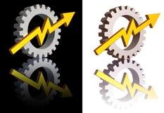 Gráfico da indústria Imagem de Stock