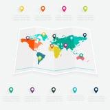 Gráfico da informação do mapa Foto de Stock Royalty Free