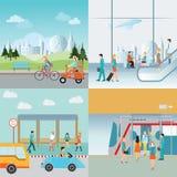 Gráfico da informação do transporte Ilustração do Vetor