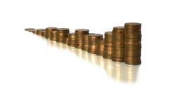 Gráfico da moeda Fotografia de Stock