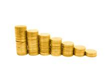 Gráfico da moeda foto de stock royalty free