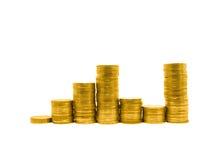 Gráfico da moeda foto de stock