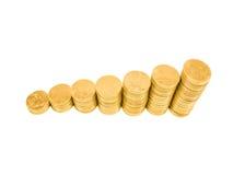 Gráfico da moeda imagem de stock royalty free