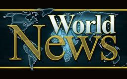 Gráfico da notícia de mundo fotos de stock