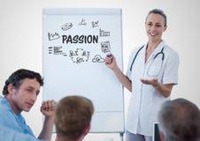 Gráfico da paixão em uma reunião imagens de stock royalty free