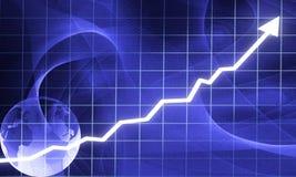 Gráfico da seta Imagens de Stock