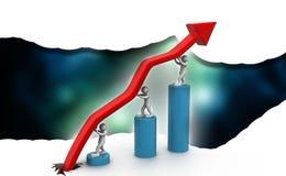 Gráfico da seta do negócio Imagem de Stock Royalty Free