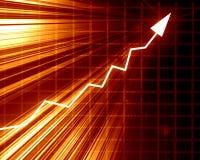 Gráfico da seta que mostra o sucesso Imagens de Stock