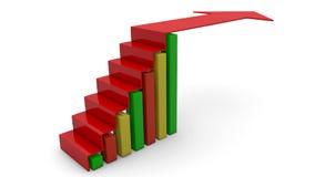 Gráfico da seta que vai acima ilustração stock