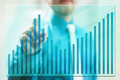 Gráfico da tela Foto de Stock