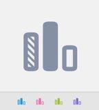 Gráfico das colunas - ícones do granito ilustração stock