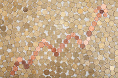 Gráfico das moedas Fotos de Stock Royalty Free