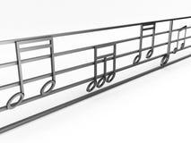 Gráfico das notas musicais Fotos de Stock Royalty Free