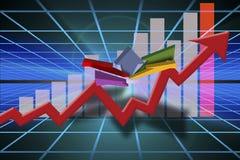 Gráfico das vendas do negócio do mercado Fotografia de Stock