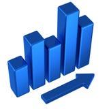 Gráfico de asunto azul abstracto 3d Imagen de archivo