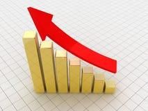 Gráfico de asunto con la flecha Imágenes de archivo libres de regalías