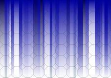 Gráfico de asunto de descoloramiento azul hexagonal stock de ilustración