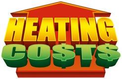 Gráfico de aumentação 2 dos custos de aquecimento fotografia de stock