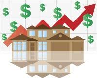 Gráfico de aumentação do valor da casa ilustração royalty free