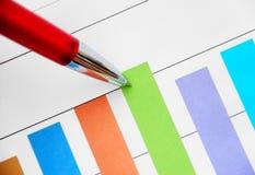 Gráfico de barra imagen de archivo libre de regalías