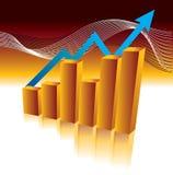 Gráfico de barra Imagens de Stock