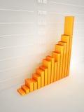 Gráfico de barra abstrato Imagens de Stock
